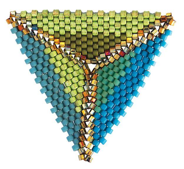Peyote Triangle, Kate McKinnon, Contemporary Geometric Beadwork, photo Kate McKinnon