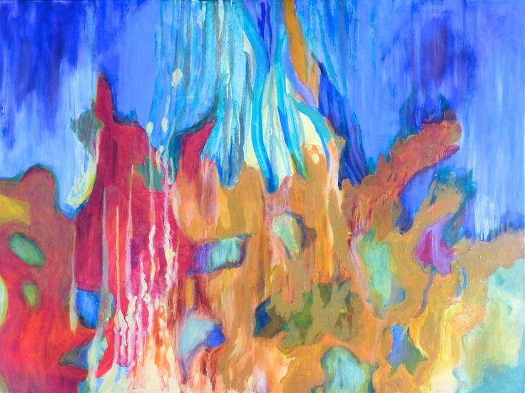 """""""Coralliferous"""", Oil Glazes, 30"""" x 40"""", $600.00"""