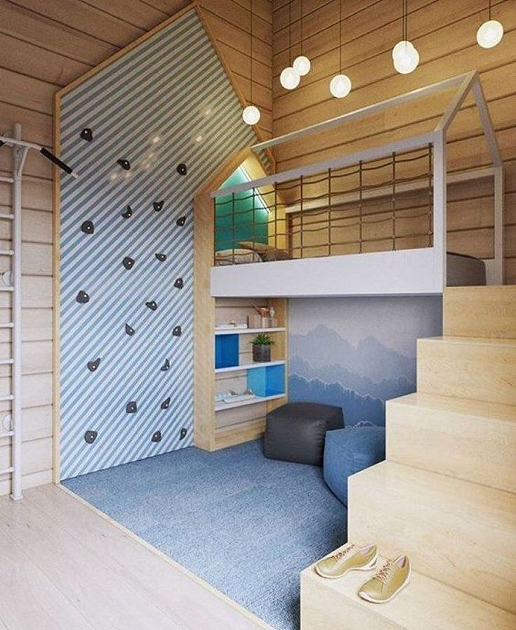 Fun activity playroom for if you have a double height ceiling.