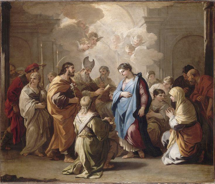 Luca GIORDANO, Le Mariage de la Vierge, Vers 1688, H. : 1,15 m. ; L. : 1,35 m. Musée du Louvre