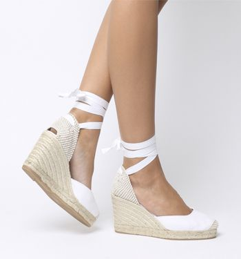 c701062fac5 Office, Marmalade Espadrille Wedges, White Canvas | Summer in 2019 ...
