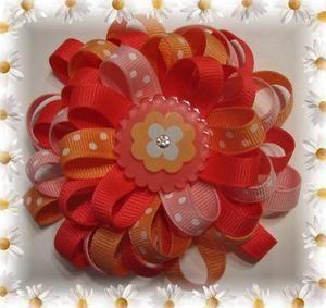 flower hair bows: Hairbows, Bow Tutorial, Hairs, Hair Bows, Bow Idea, Hair Accessories