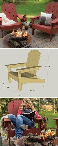 Just about everybody recognizes the classic lines of an Adirondack chair, and would like to have one or two somewhere in their outdoor living space. And why not? These chairs look great and are very comfortable. As you'll find out with this plan, an Adirondack chair is also easy to build. Get the free DIY plans at buildsomething.com #woodworking