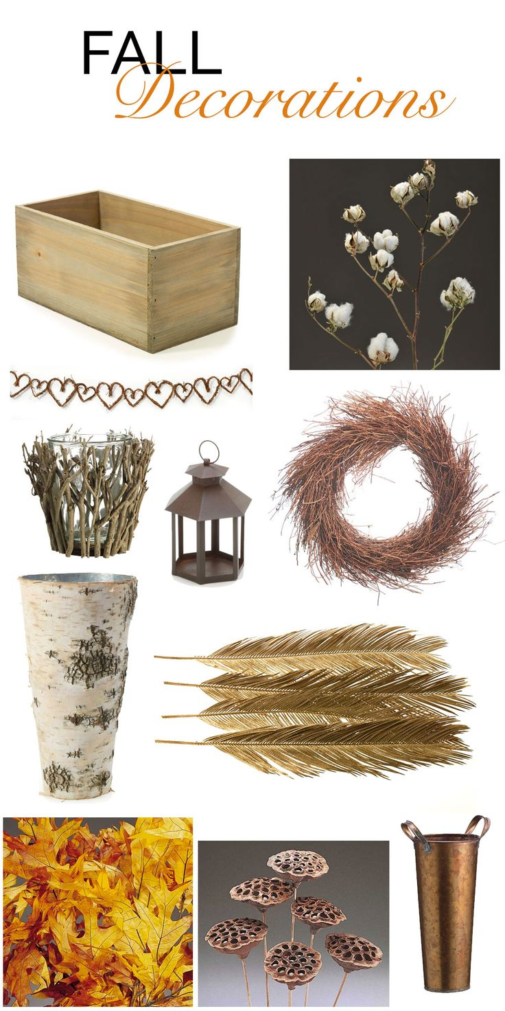 Decorate for Fall! Beautiful decorations for the home or your fall wedding! #afloral