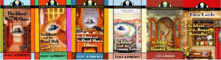 The Ghost and Mrs. McClure series by Alice Kimberly/Cleo Coyle...who wouldn't love the ghost of a 1940's private eye inhabiting a bookstore??