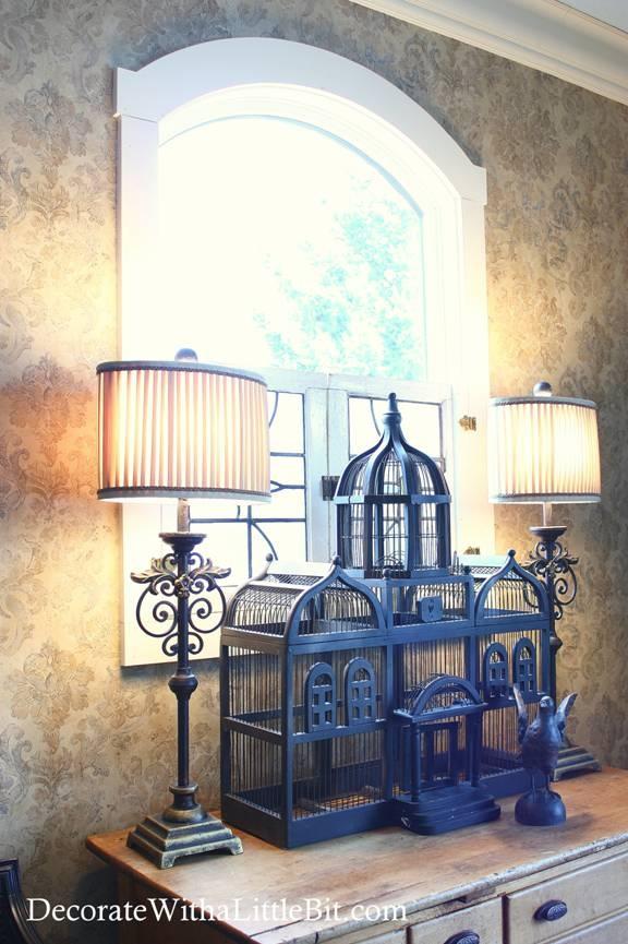 Interior Window   Blue Birdcage