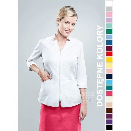 Żakiet medyczny damski Hansa 1603? Tylko w sklepie internetowym Dersa! Nasza odzież wykazuje najlepszy stosunek ceny do jakości. |Dla lekarzy i pielęgniarek |