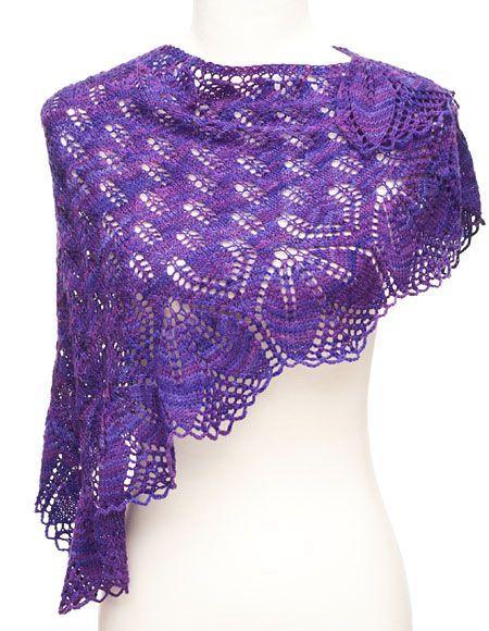 Haruni Shawl Pattern - Knitting Patterns and Crochet Patterns from KnitPicks.com