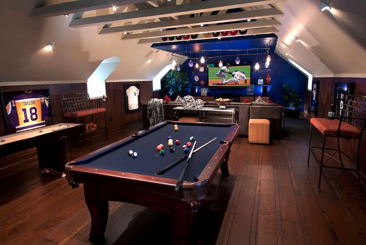 There's always the option of turning your attic into the ultimate lad-pad!