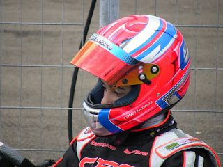 A young rider wearing a helmet designed from us, is preparing himself for the race. ~ Hand Painted Helmets - Design your helmet today..!!