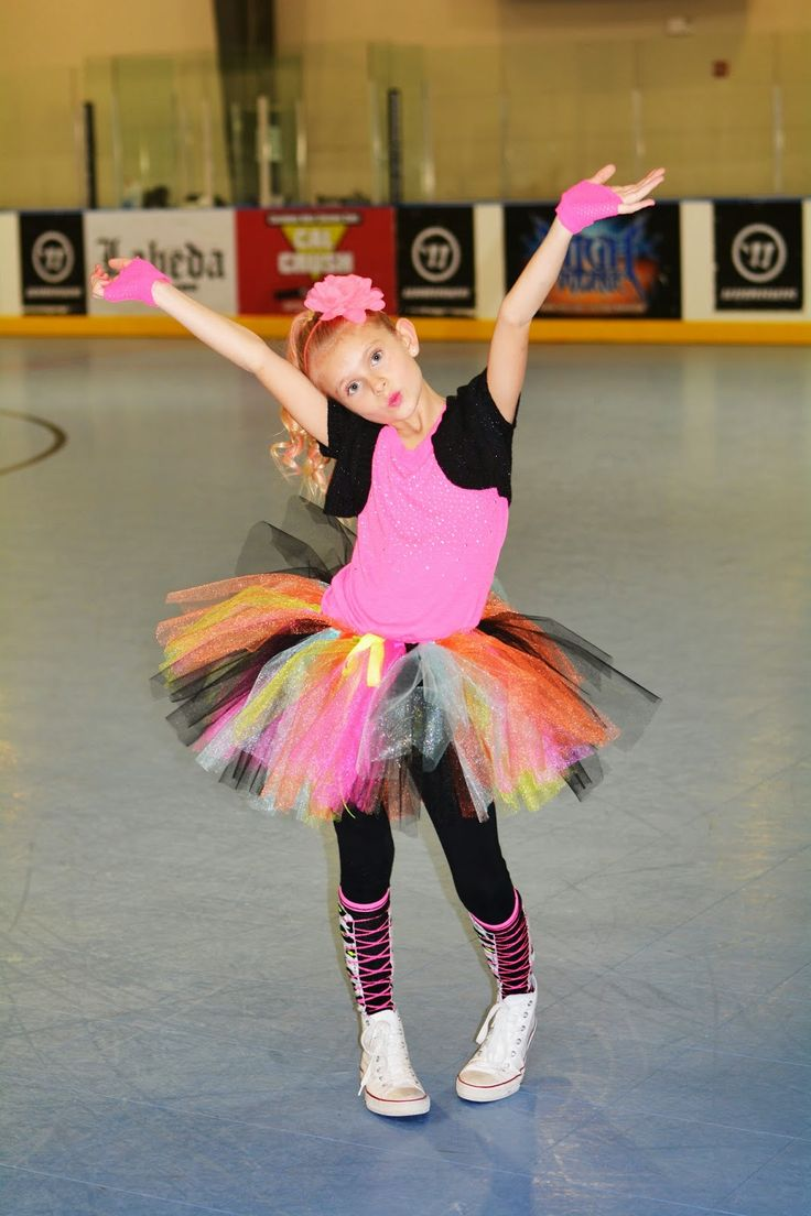 Mini Fashion Addicts Neon Party Outfit Roller Skating Party tutu