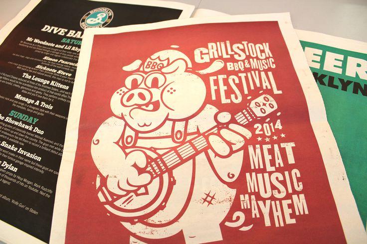 Grillstock - Restaurant #program #posters