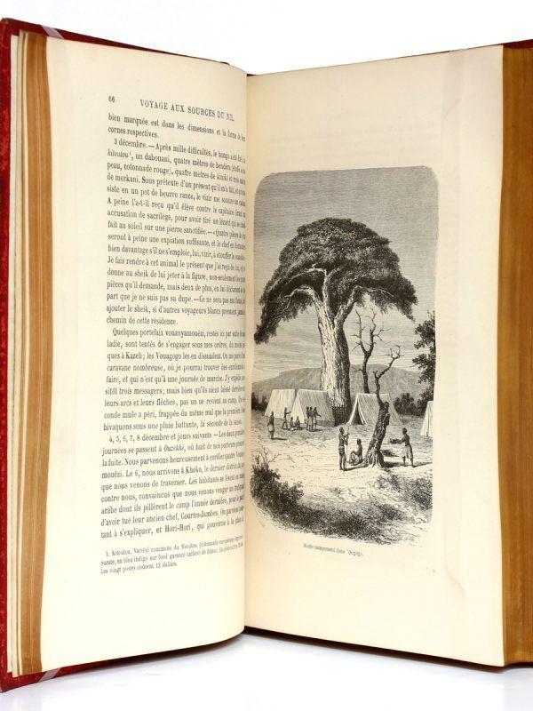 Aux Sources du Nil Journal de voyage du Capitaine John Hanning Speke. Librairie de L. Hachette et Cie 1865. Pages intérieures 1.