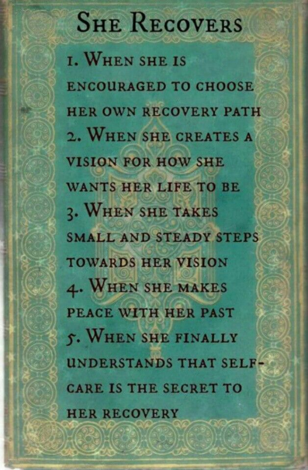 Step by step.... she recovers.