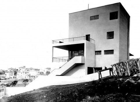 Fachada Lateral Residência Rua Bahia, São Paulo, 1930 /Warchavchik