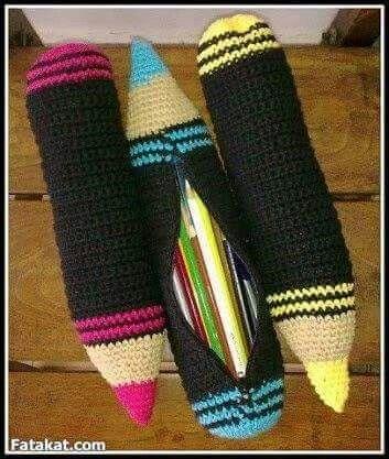 Crochet pencil case                                                       …