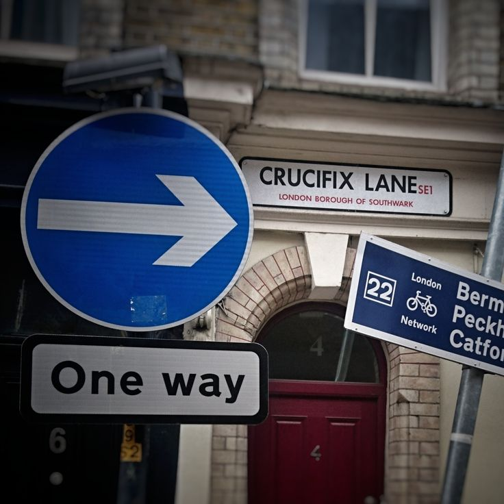 What else? #crucifix #sign #london #oneway #photography #graber