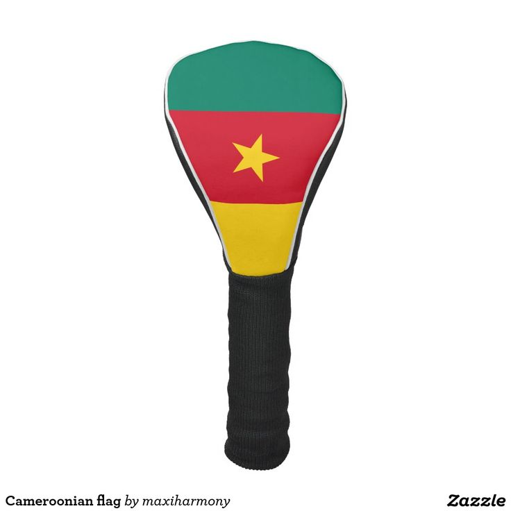 Cameroonian flag golf head cover