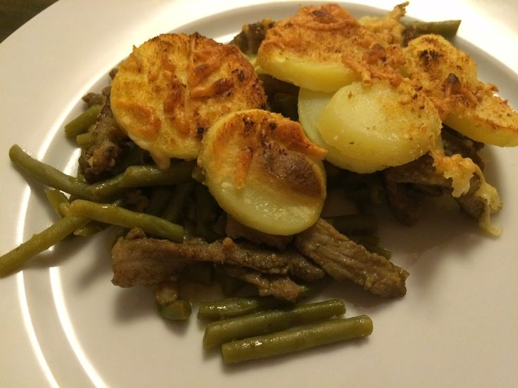 Lekker eten met Marlon: Shoarma, boontjes en aardappelen gegratineerd in de oven (fotoblog)