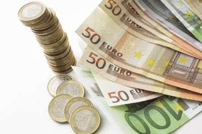 Euro Scheine, Noten, Münzen, Papiergeld