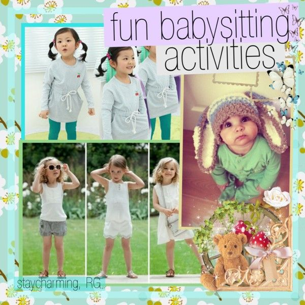 """fun babysitting activities"" by rgsbigbook ❤ liked on Polyvore"