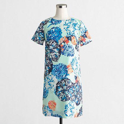 J.Crew Factory Factory printed drapey T-shirt dress