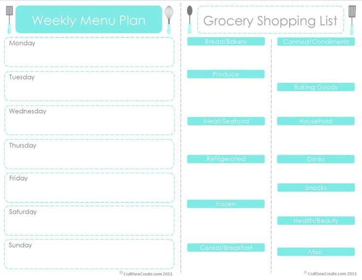 43 best images about Menu Planning on Pinterest Menu planning - free menu planner template