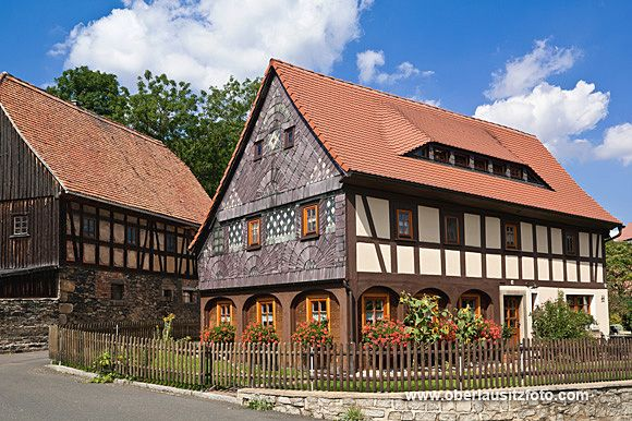 Fachwerk/Umgebindehäuser in der Oberlausitz, Bertsdorf