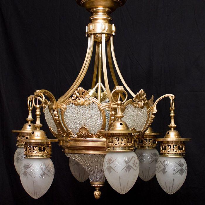 Антикварные светильники, светильники середины 19 века, начала 20 века, люстры, лампы, настенные и настольные светильники, подвесные люстры, настенные старинные светильники, антиквариат