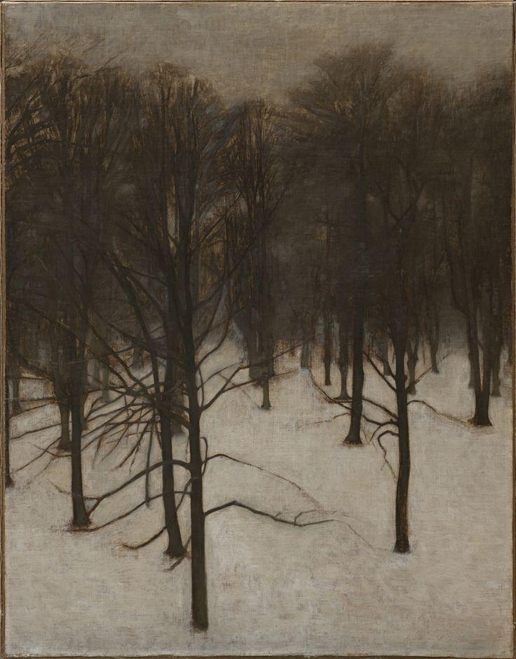 Vilhelm Hammershøi: Søndermarken Park in winter. 1895 - 1896. The Hirschsprung Collection