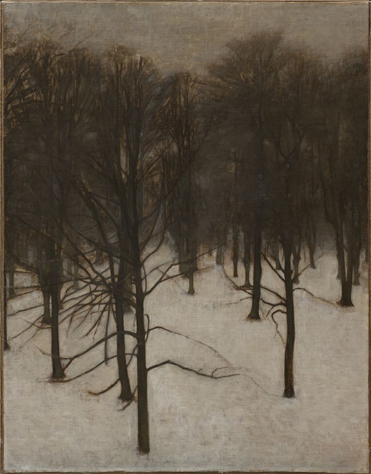 Vilhelm Hammershøi: Søndermarken Park in winter. 1895 - 1896. The Hirschsprung Collection