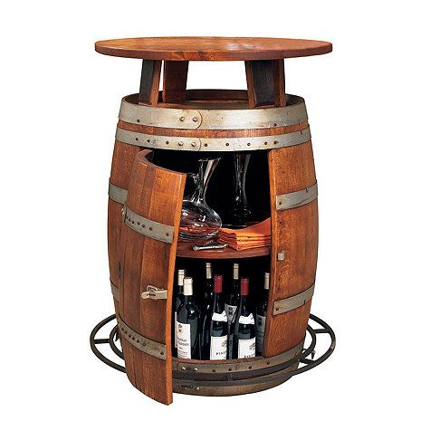 Vintage Oak Outdoor Wine Barrel Bistro Table (Weatherized) at Wine Enthusiast - $1,095.00