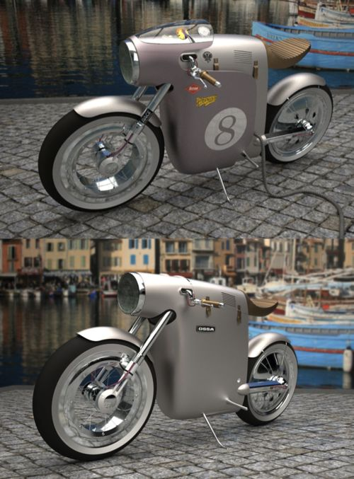 Monocasco concept electric bike for OSSA by ART-TIC