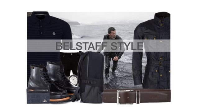 """Belstaff Style"" by zeeandcoltd ❤ liked on Polyvore featuring Fred Perry, Vivienne Westwood, men's fashion, menswear, versace, viviennewestwood, fredperry, belstaff and ghbass"