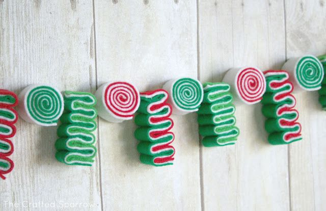 DIY- Ribbon Candy Garland Tutorial...super cute idea and a wonderful crafter that shares her creativity with others...check it out....
