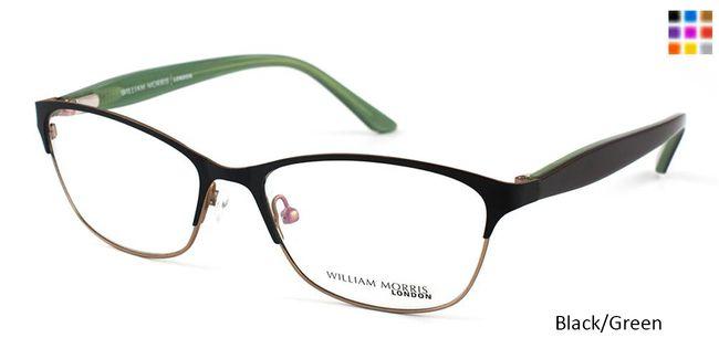 67bb4c1532 Black Green William Morris London WM9915 Eyeglasses