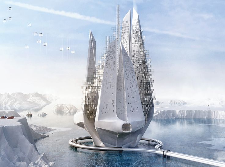 "The ""reverse climate change machine"" is an honorable mention in the Evolo Skyscraper Design Competition."
