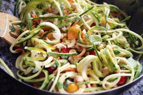 """Al een tijdje hip in de (raw) food wereld is de """"Spirali"""". Met dit apparaat draai je makkelijk en snel mooie spaghetti-achtige slierten die je als vervanger in noedelgerechten kunt gebruiken. Maar..."""