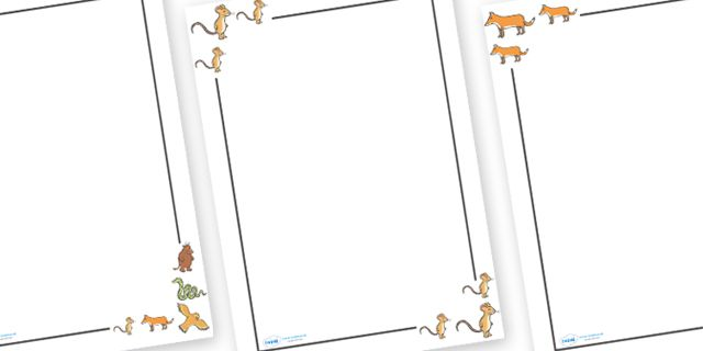 Twinkl Resources Gtgt The Gruffalo Page Borders Gtgt Thousands