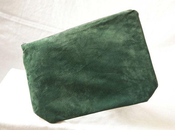 Upcycled Leather Clutch by KatEyeKrafts on Etsy, $48.00