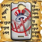 White Round Logo New York Yankees HTC One X Case Full Wrap #HTCOne #HTCOneX #PhoneCase #HTCOneCase #HTCOneXCase