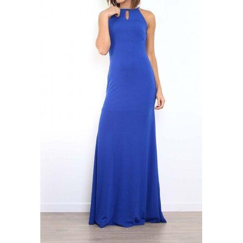 Vestido Fiesta Largo Azul | Suen-Vestidos de fiesta