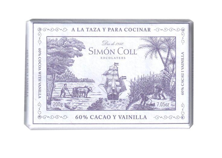 Simon Coll 200g. Ciocolata calda A LA TAZA 60% cacao cu vanilie
