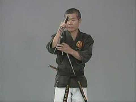 Sai Exercise and Handling. Martial arts weapon demonstration