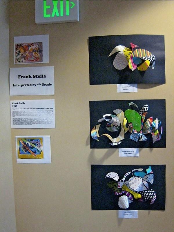 Frank Stella...4th grade 3-D paper sculpture
