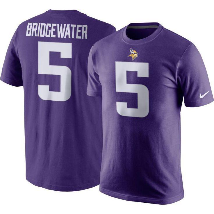 Nike Men's Minnesota Teddy Bridgewater #5 Pride Purple T-Shirt, Size: XXL, Team