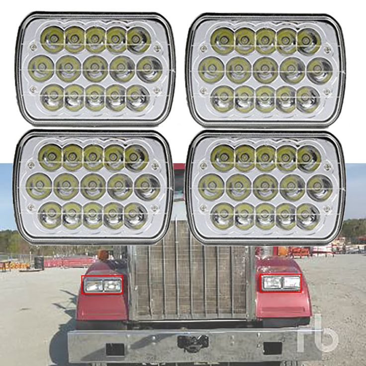4PC CREE Sealed Beam Headlight Bulb for Kenworth T300 LH RH 1997-2010 Toyota #TURBO