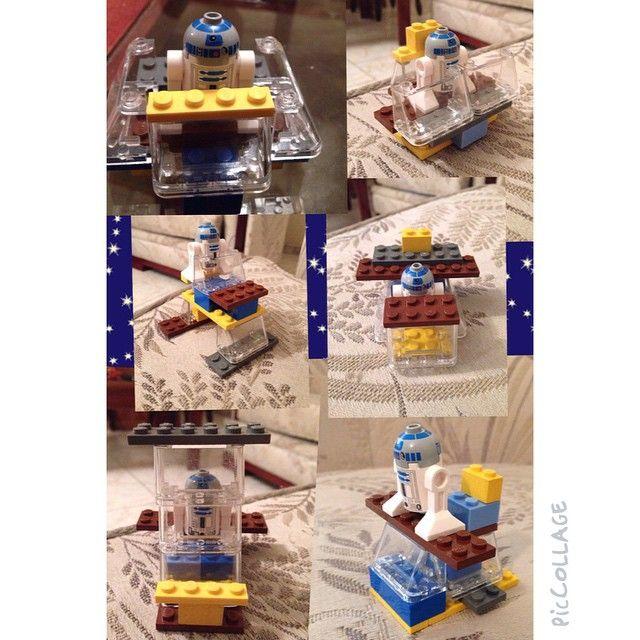 Diferentes modelos de nave para #R2D2 hechos con unas pocas piezas por mi pequeño Maestro Constructor! #piccollage #lego #starwars #builder #imagination