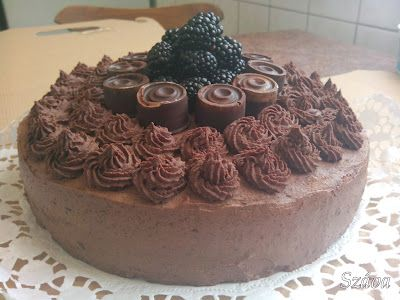 Chocolate cake with mulberry