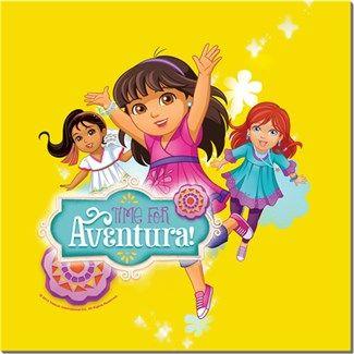 Dora ve Arkadaşları - Macera Zamanı Kendin Tasarla - HDF Magnet 8x8cm